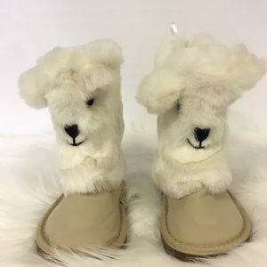 Fuzzy furry little girl animal character boots